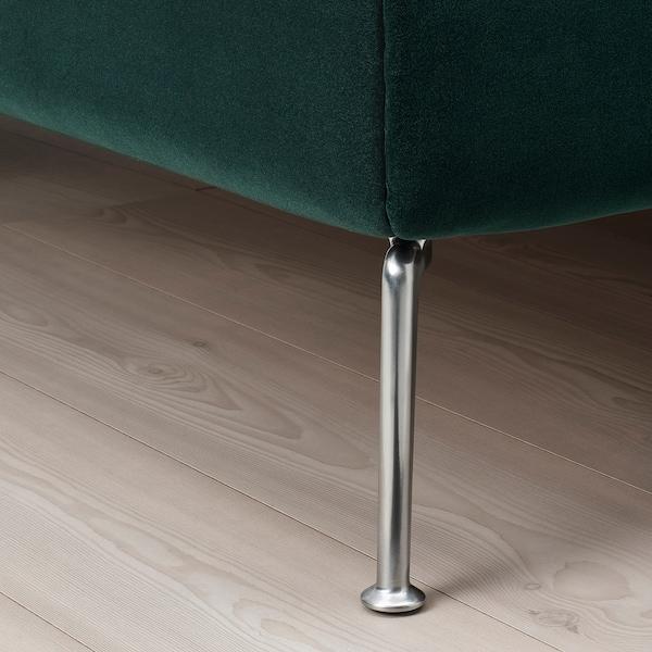 TUFJORD Upholstered bed frame, Djuparp dark green, Queen
