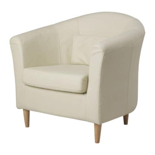"TULLSTA Chair off-white Width: 31 1/2 "" Depth: 27 1/2 "" Height: 30 3/8 "" Seat width: 21 5/8 "" Seat depth: 21 5/8 "" Seat height: 17 3/4 ""  Width: 80 cm Depth: 70 cm Height: 77 cm Seat width: 55 cm Seat depth: 55 cm Seat height: 45 cm"