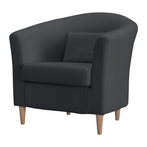 TULLSTA Chair IKEA The pillow provides comfortable lumbar support.  Extra covers are available for variation and renewal.