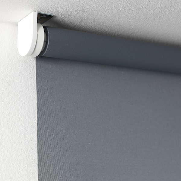 "TUPPLUR blackout roller blind gray 32 ¾ "" 34 "" 76 ¾ "" 17.55 sq feet"
