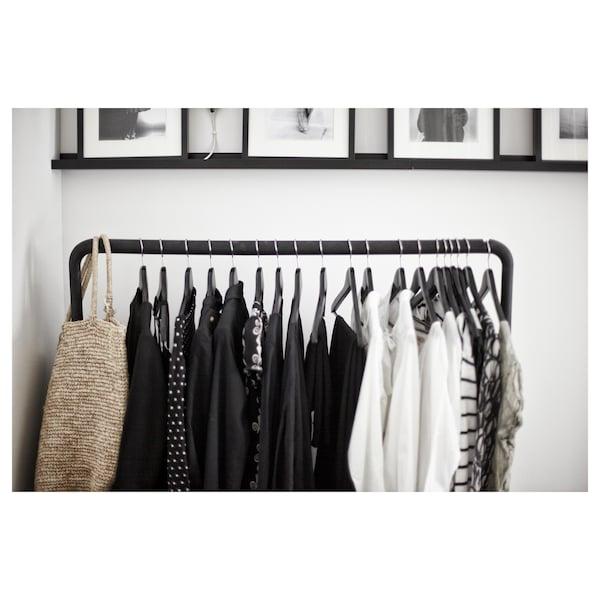 """TURBO Clothes rack, indoor/outdoor, black, 46 1/8x23 1/4 """""""