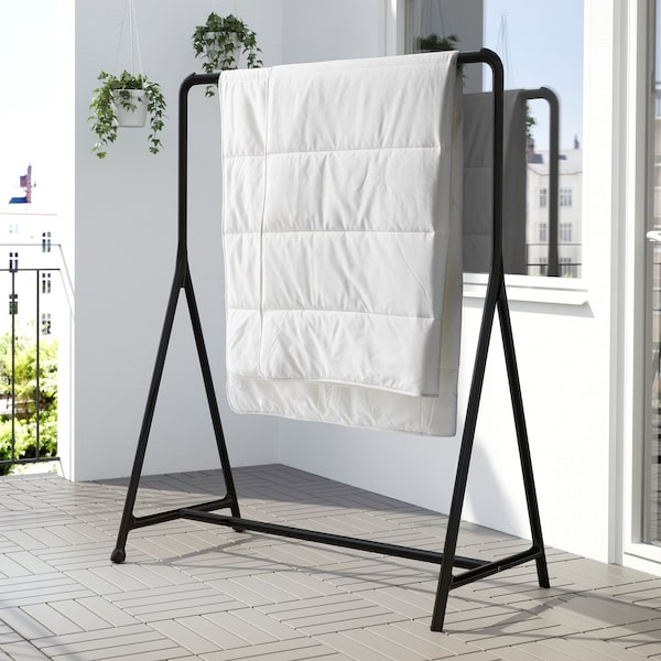 TURBO Clothes rack, indoor/outdoor, black, 46 1/8x23 1/4 ""