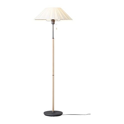 TUVE Floor lamp IKEA Fabric shade gives a diffused and decorative light.
