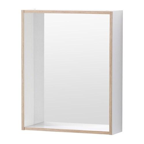 TYNGEN Mirror with shelf, white, ash effect white/ash effect 15 3/4x4 3/4x19 5/8