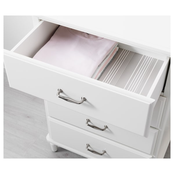 "TYSSEDAL 4-drawer chest white 26 3/8 "" 19 1/4 "" 40 1/8 "" 20 7/8 "" 15 "" 15 lb"