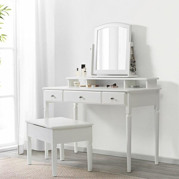 """TYSSEDAL Table mirror, white, 24 3/4x22 ¾ """""""