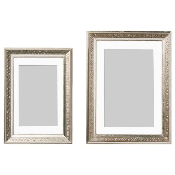 UBBETORP Frame, set of 2, silver color