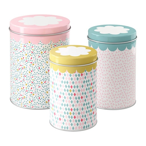 UDDIG Tin with lid set of 3  sc 1 st  Ikea & UDDIG Tin with lid set of 3 - IKEA