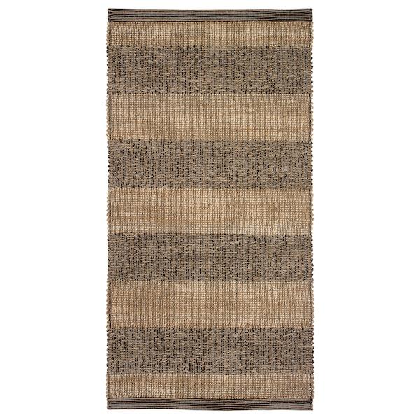 "UGILT Rug, flatwoven, black/beige, 31 1/2x59 """
