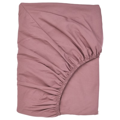 ULLVIDE Fitted sheet, dark pink, King