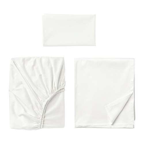 ULLVIDE Sheet set, white white Twin