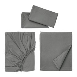 ULLVIDE sheet set, gray