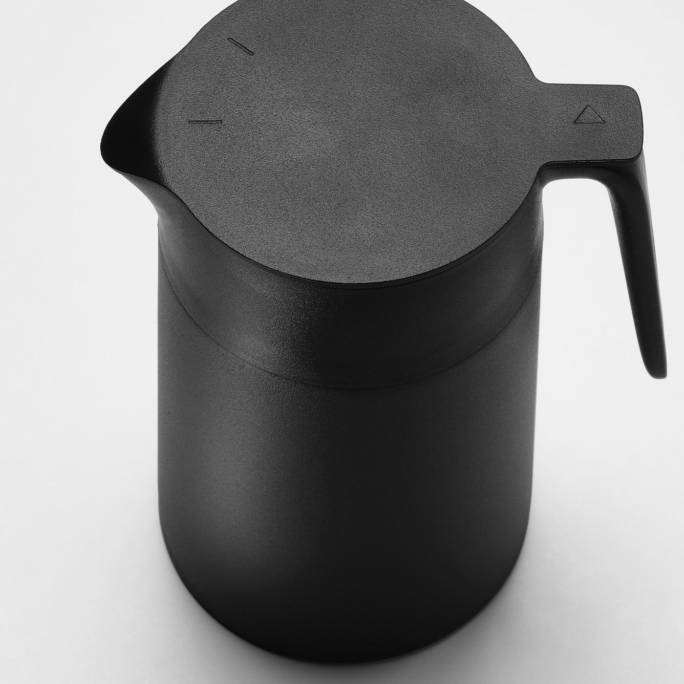 UNDERLÄTTA Vacuum flask, black, 41 oz