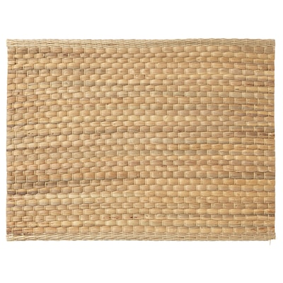 UNDERLAG Place mat, water hyacinth/natural, 14x18 ""