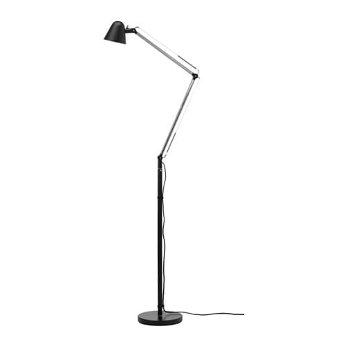 Uppbo floor reading lamp with led bulb