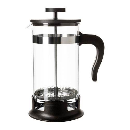 UPPHETTA Coffee/tea maker, glass, stainless steel