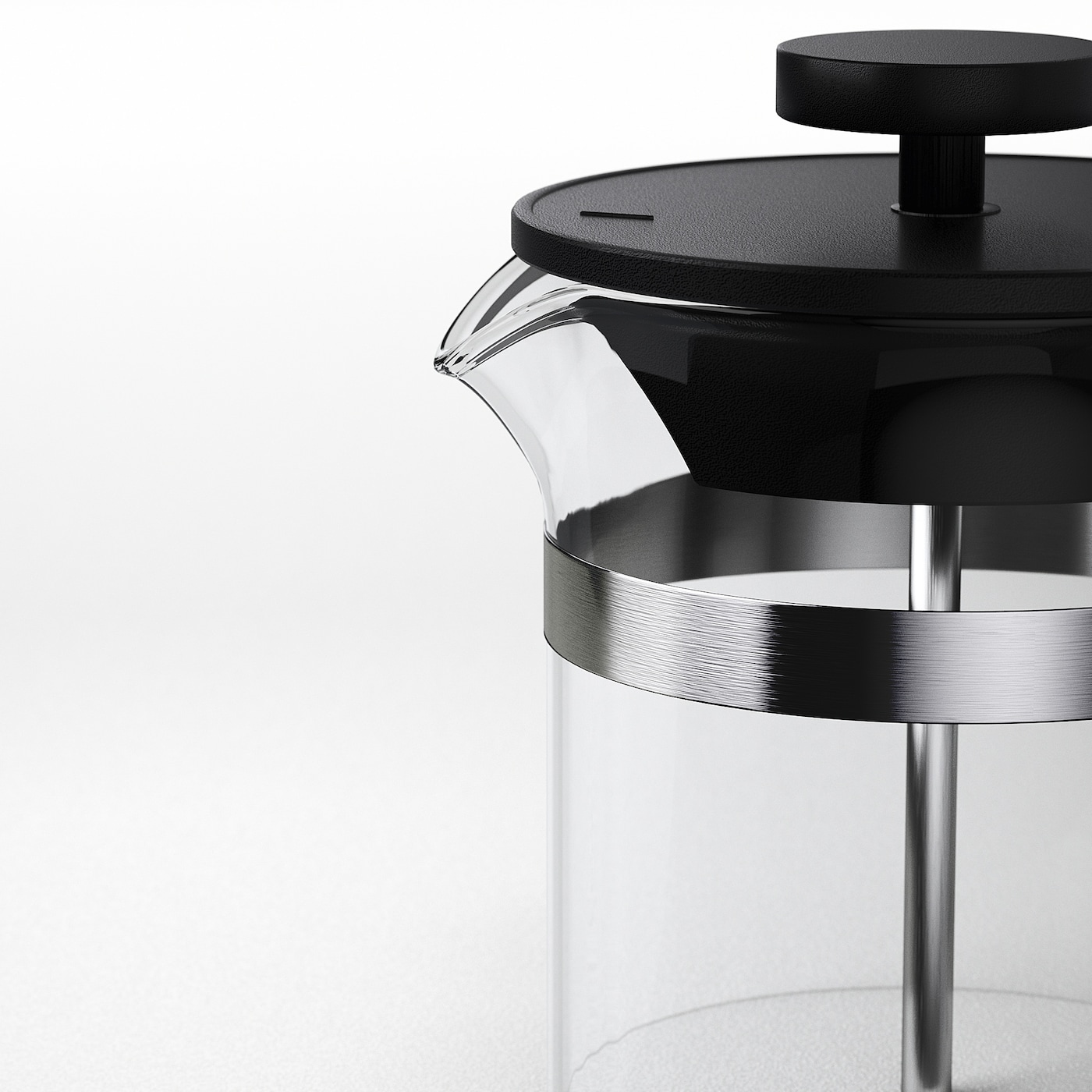 "UPPHETTA French press coffee maker glass/stainless steel 7 "" 3 "" 13.5 oz"
