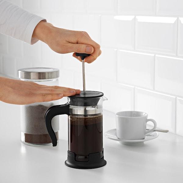 UPPHETTA French press coffee maker, glass/stainless steel, 13.5 oz