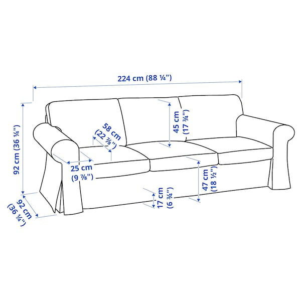 UPPLAND Sofa, Virestad red/white