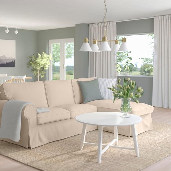 UPPLAND Sofa with chaise, Hallarp beige