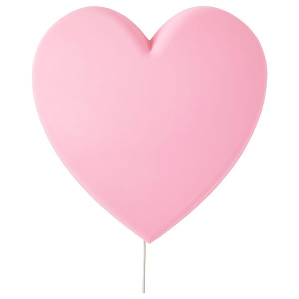 UPPLYST LED wall lamp, heart pink