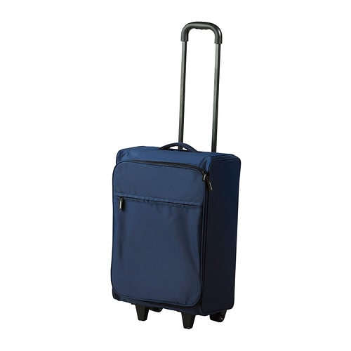UPPTÄCKA Carry-on bag w/wheels, collapsible IKEA The carry-on bag takes little room to store when you're not using it since it folds flat.