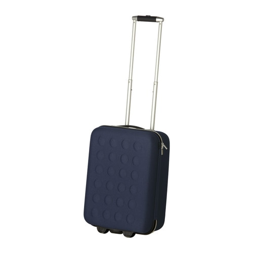 Uppt cka carry on bag with wheels dark blue ikea for Ikea luggage cart