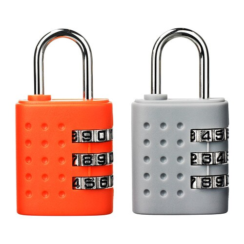 Penderie Ikea Portes Coulissantes ~ UPPTÄCKA Padlock IKEA A combination lock is convenient for traveling
