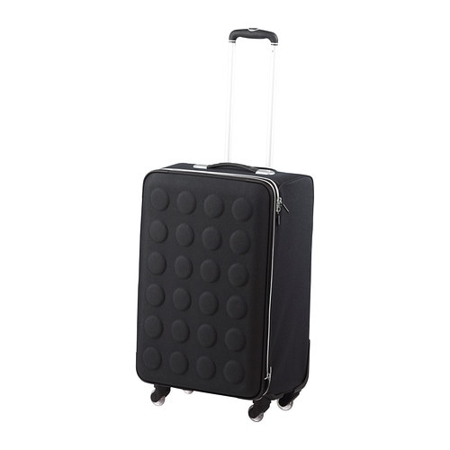 Uppt cka suitcase on wheels collapsible dark gray ikea for Ikea luggage cart