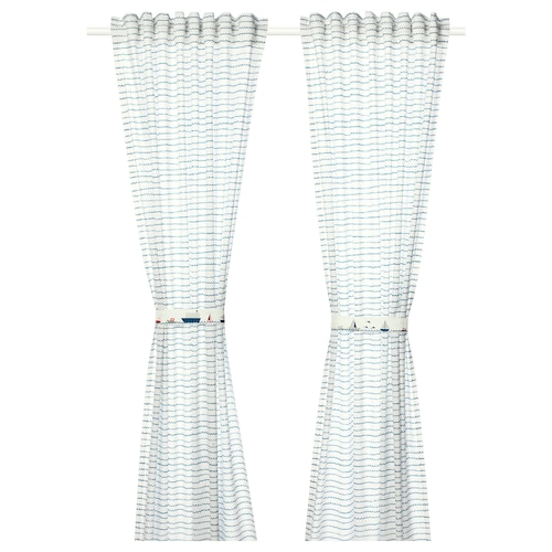 IKEA UPPTÅG Curtains with tie-backs, 1 pair
