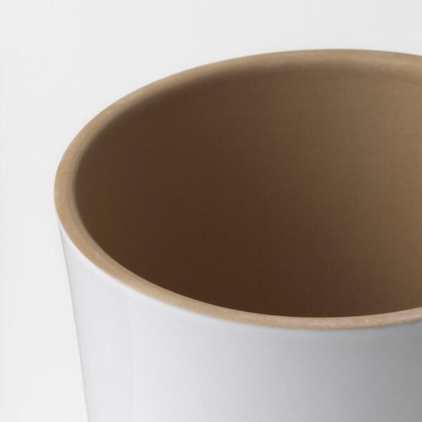 """UPPVAKTA Plant pot, white/natural, 4 ¾ """""""