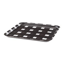 URLADDA tray, black/white