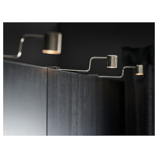 URSHULT LED cabinet light, nickel plated