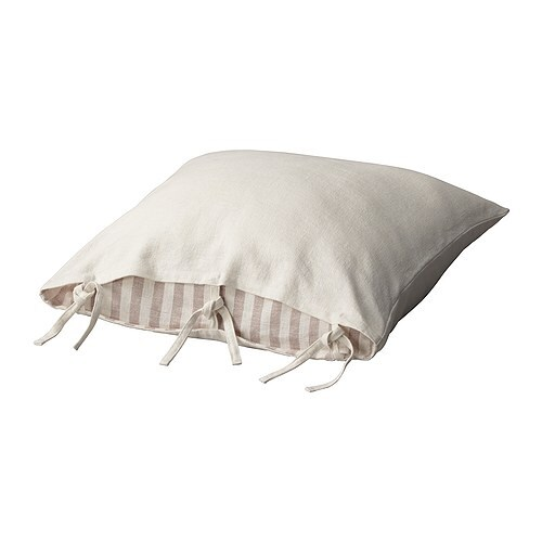 URSULA Cushion cover IKEA Cover is made of ramie; a hard-wearing and absorbent natural material.  Ties make the cover easy to remove for washing.