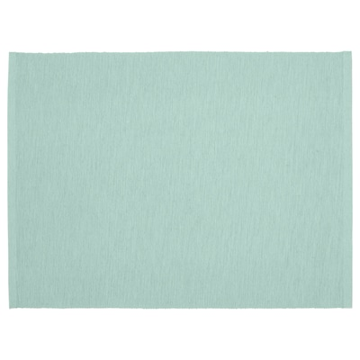 UTBYTT Place mat, light turquoise, 13 ¾x17 ¾ ""