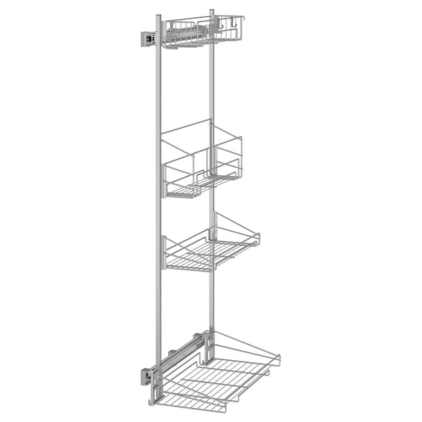 "UTRUSTA pull-out rack for cleaning supplies 14 "" 22 3/8 "" 53 "" 55 1/8 "" 55 lb"