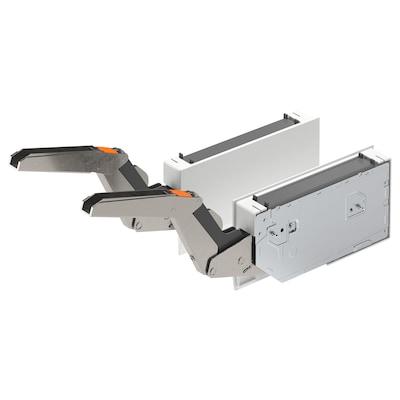 UTRUSTA Hinge/push-open for horizontal door, white