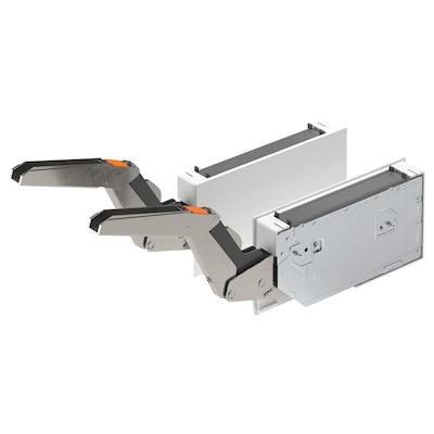 UTRUSTA Hinge w/damper for horizontal door, white