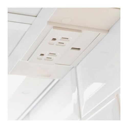 UTRUSTA 2 Outlet Power Strip With USB Port   White   IKEA