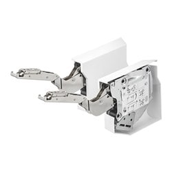 UTRUSTA small hinge for horizontal door, white