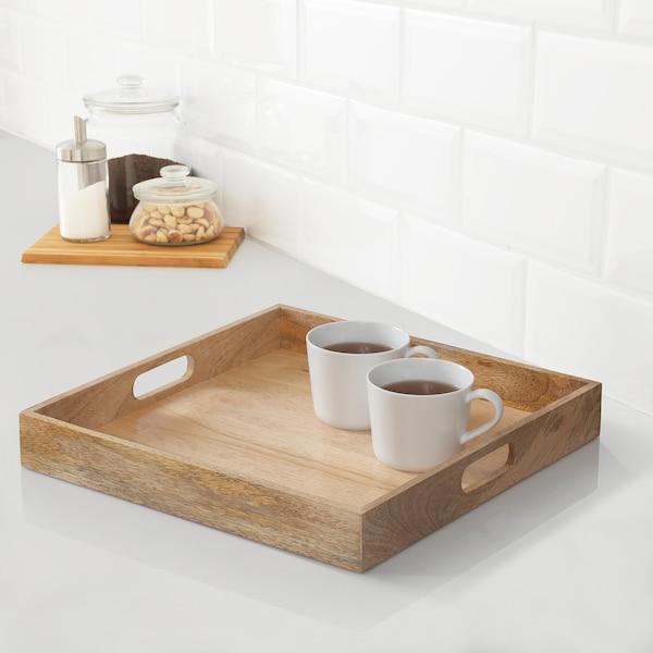 """UTVÄNDIG Decorative tray, natural, 16x16 """""""