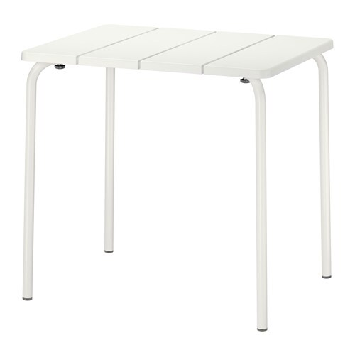VÄDDÖ Table, outdoor, white white 22 7/8x29 1/8