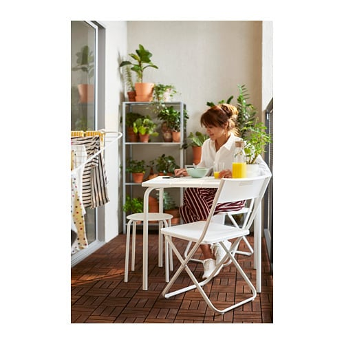 VÄDDÖ Table, outdoor IKEA Takes up little storage space since the underframe can be easily removed from the table top and folded flat.