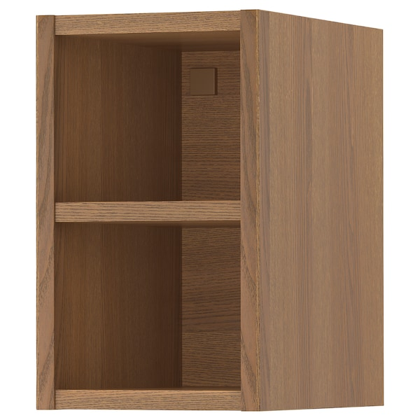 VADHOLMA Open storage, brown/stained ash, 9x14 3/8x15 ""