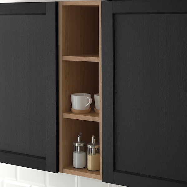 Vadholma Open Storage Brown Stained Ash Width 9 Height 30 Order Today Ikea