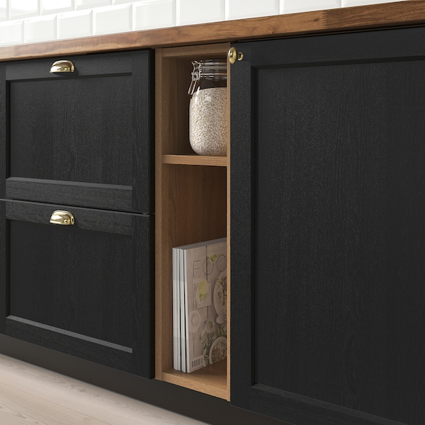 """VADHOLMA open storage brown/stained ash 9 """" 14 3/8 """" 30 """""""