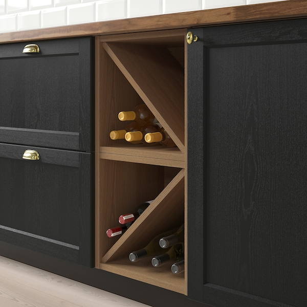 """VADHOLMA Wine shelf, brown/stained ash, 15x14 3/8x15 """""""