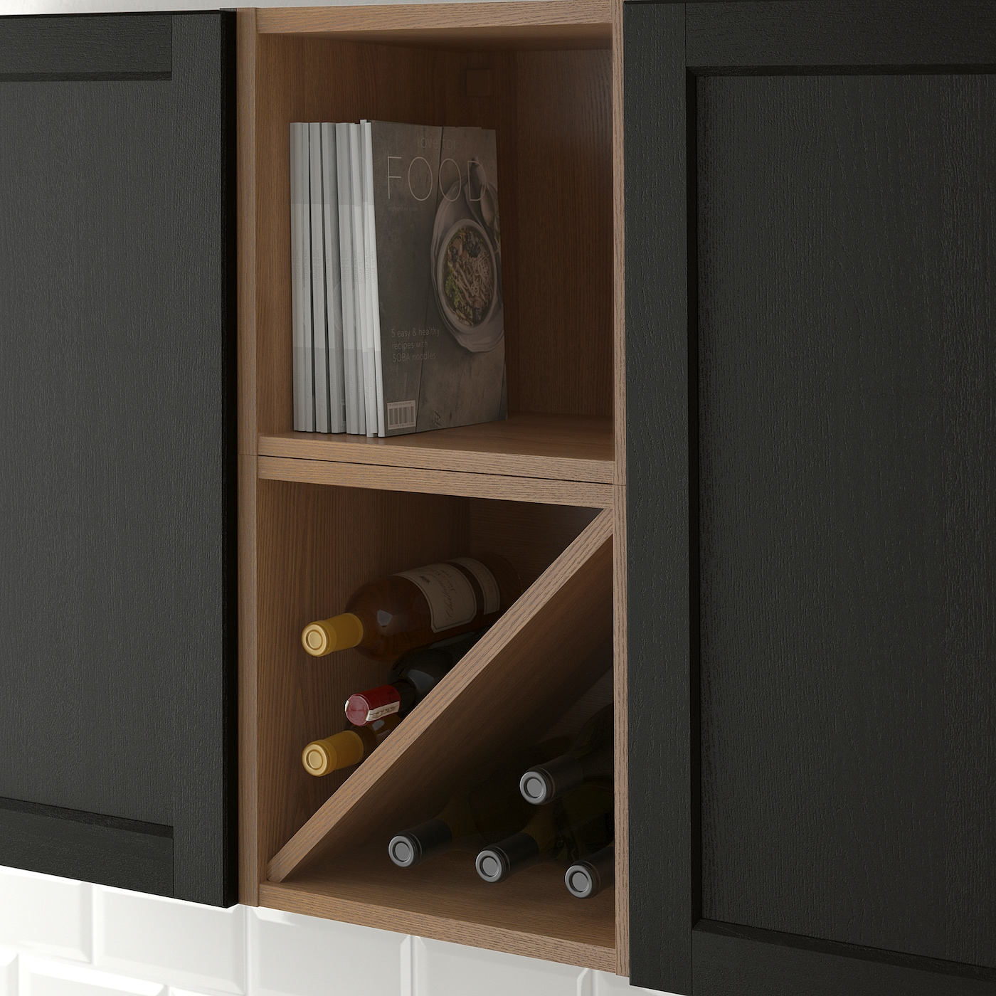 """VADHOLMA Wine shelf - brown/stained ash 6x6 6/6x6 """""""