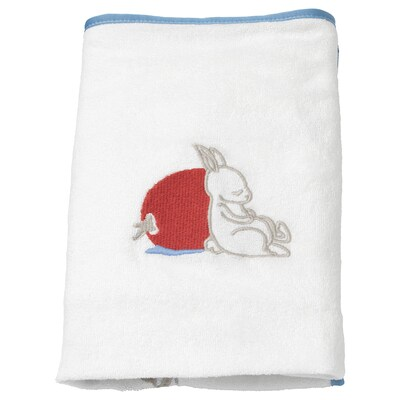 VÄDRA Cover for changing pad, rabbit pattern/white, 18 7/8x29 1/8 ""
