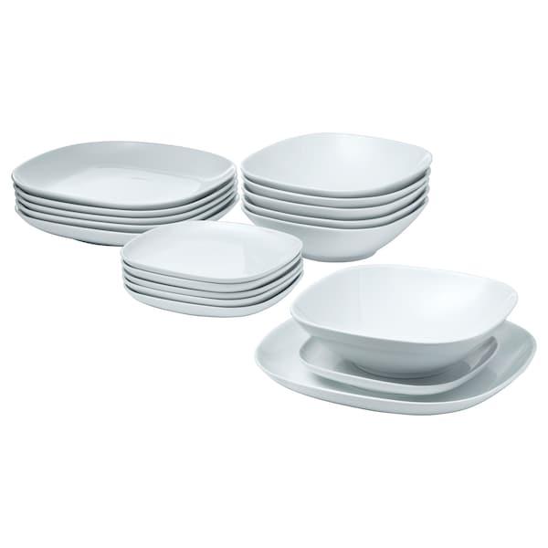 VÄRDERA 18-piece dinnerware set white